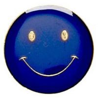ButtonBadge20 Smile Blue-SB001B